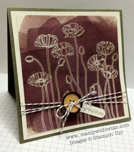 stampwithbrian.com - painting poppies card
