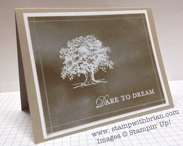 Brown Chalkboard - Lovely as a Tree, Loving Thoughts