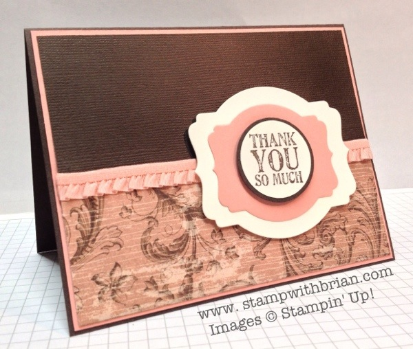 Lots of Thanks, Stampin' Up!, Brian King