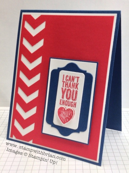 Chevron Builder Punch, Chalk Talk, Stampin' Up!, Brian King