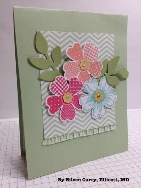 Послать, цветы для открытки из ткани