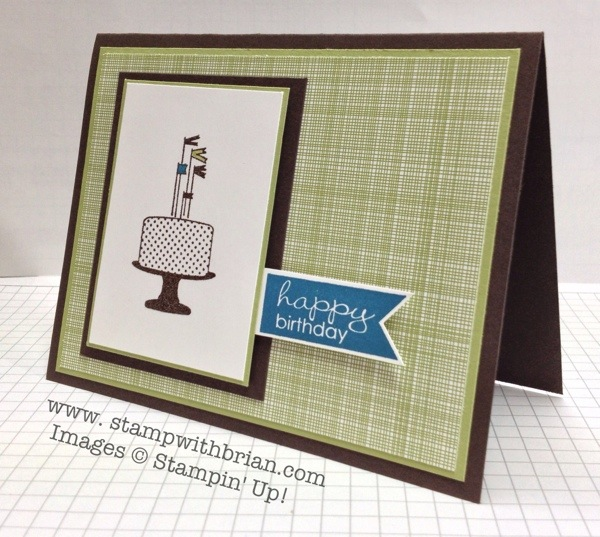 Make a Cake, Banner Greetings, Stampin' Up!, Brian King