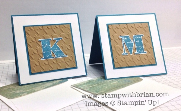 Morning Post Alphabet, Stampin' Up!, Brian King