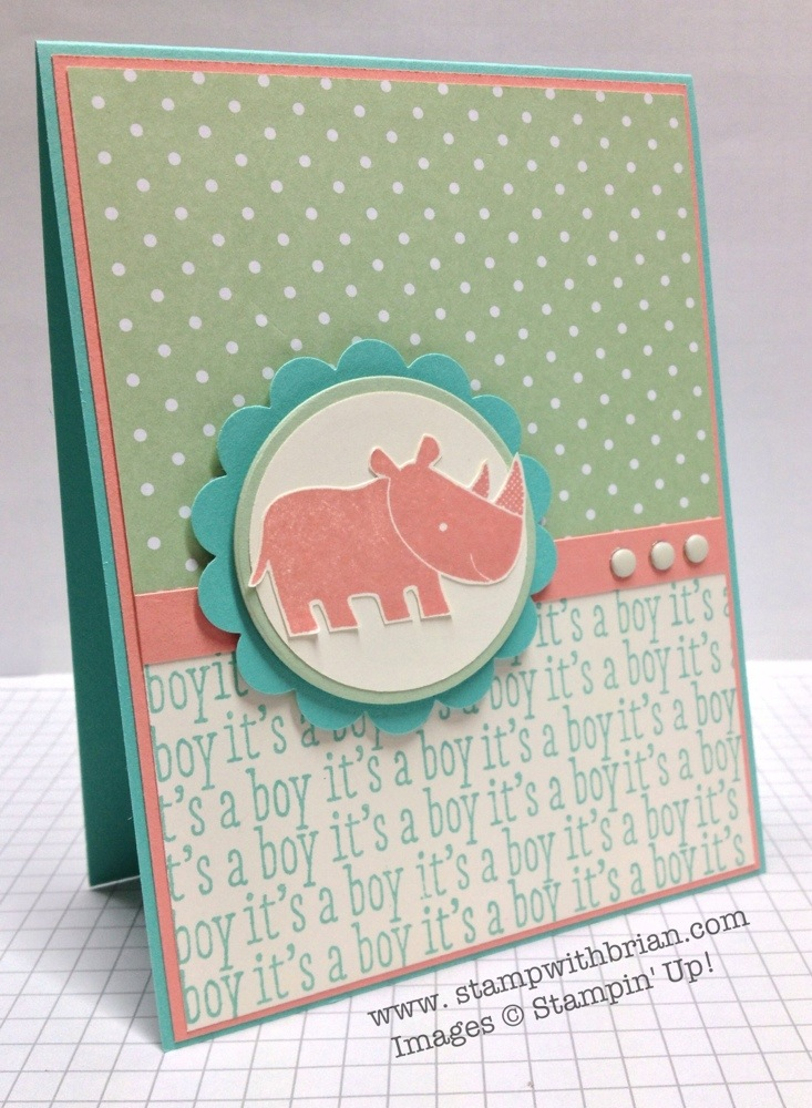 Zoo Babies, A Dozen Thoughts, Stampin' Up!, Brian King