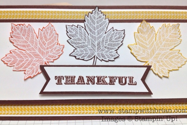 Magnificent Maple, Thankful, Stampin' Up!, Brian King