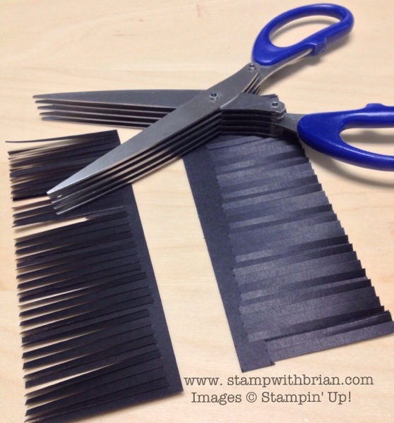 Multi-blade Receipt Cutting Scissors to make fringe, Stampin' Up!, Brian King
