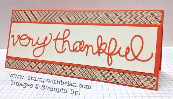 Expressions Thinlits, Stampin' Up!, Brian King