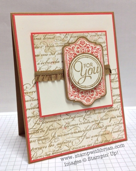 Chalk Talk, En Francais, Gorgeous Grunge,Stampin' Up!, Brian King, PPA171