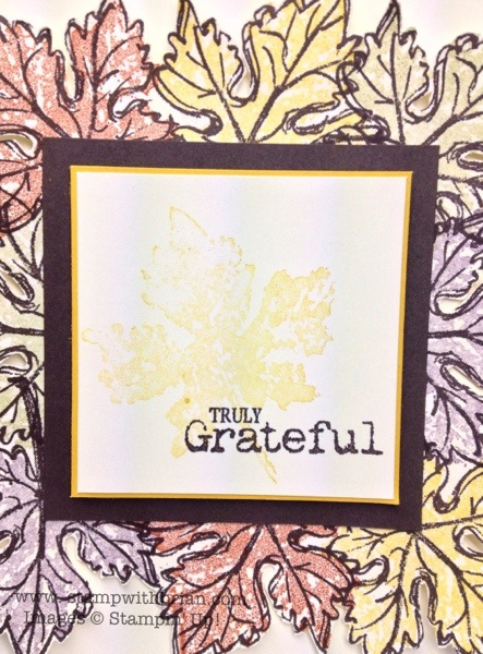 Gently Falling, Truly Grateful, Stampin' Up!, Brian King