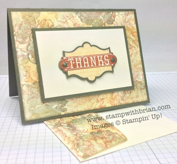 Harvest of Thanks, Stippled Blossoms, Stampin' Up!, Brian King, PPA175
