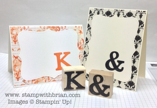 Making stamps with Typeset Alphabet, Stampin' Up!, Brian King