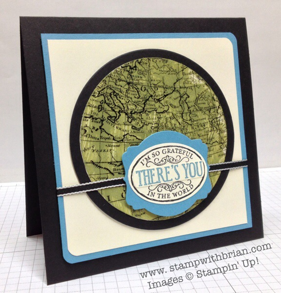 World Map, Chalk Talk, Stampin' Up!, Brian King, Acrylic Smash Tutorial