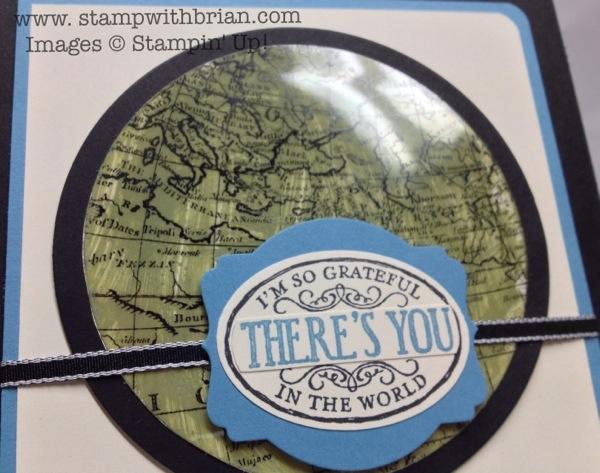 World Map, Chalk Talk, Stampin' Up!, Brian King, Acrylic Smash Tutorial