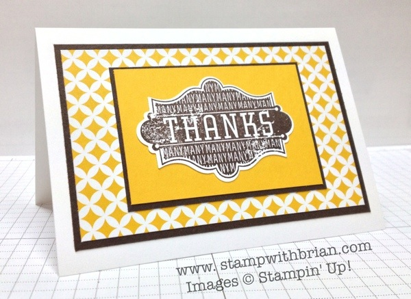 Harvest of Thanks, Stampin' Up!, Brian King