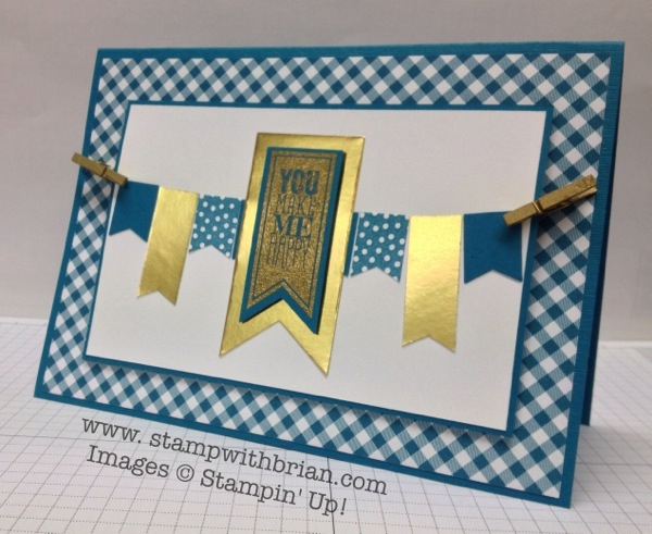 Perfect Pennants, Banner Blast, Stampin' Up, Brian King, PPA186