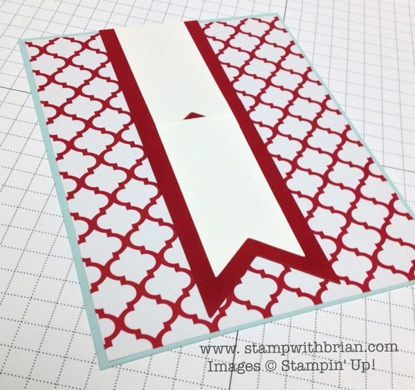 Creating an extended banner, Stampin' Up! Brian King