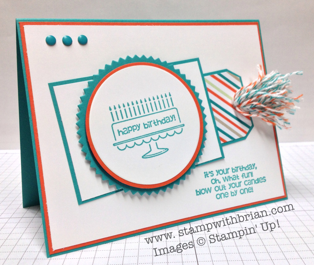 Bring on the Cake, Stampin' Up!, Brian King, PP180