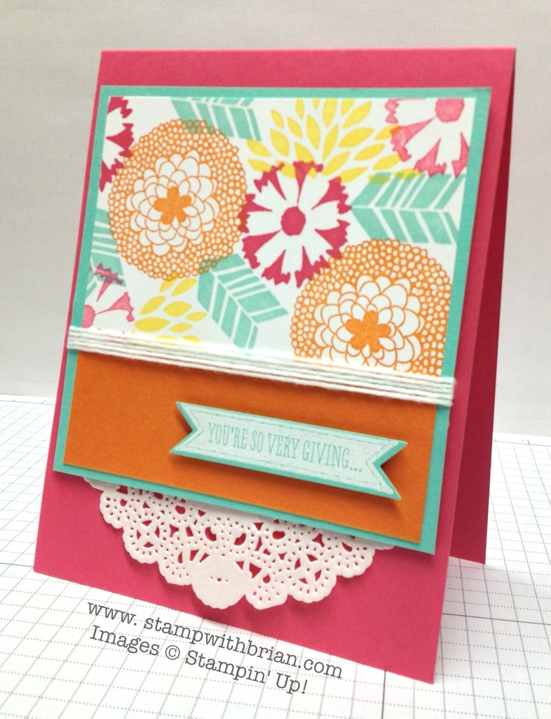 Petal Parade, So Very Grateful, Stampin' Up!, Brian King, FabFri35