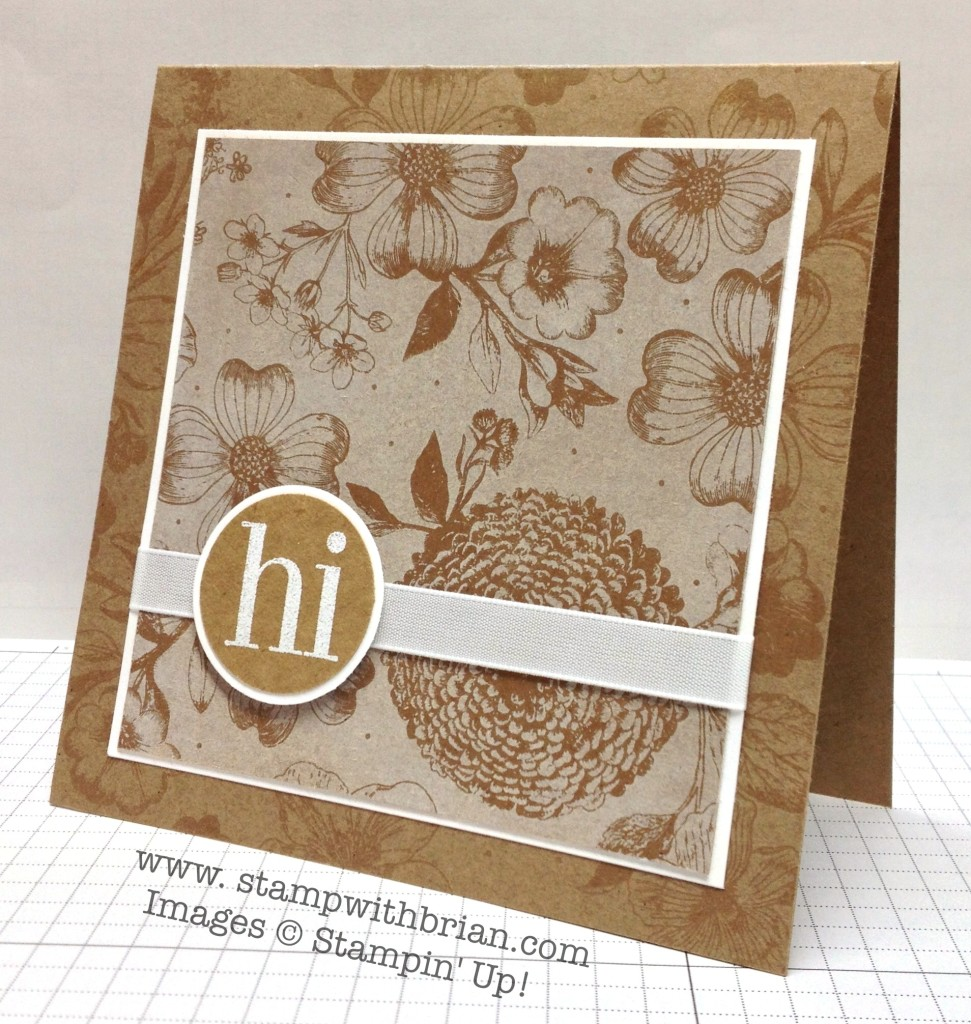 Regarding Dahlias, Stampin' Up!, Brian King, TCC4