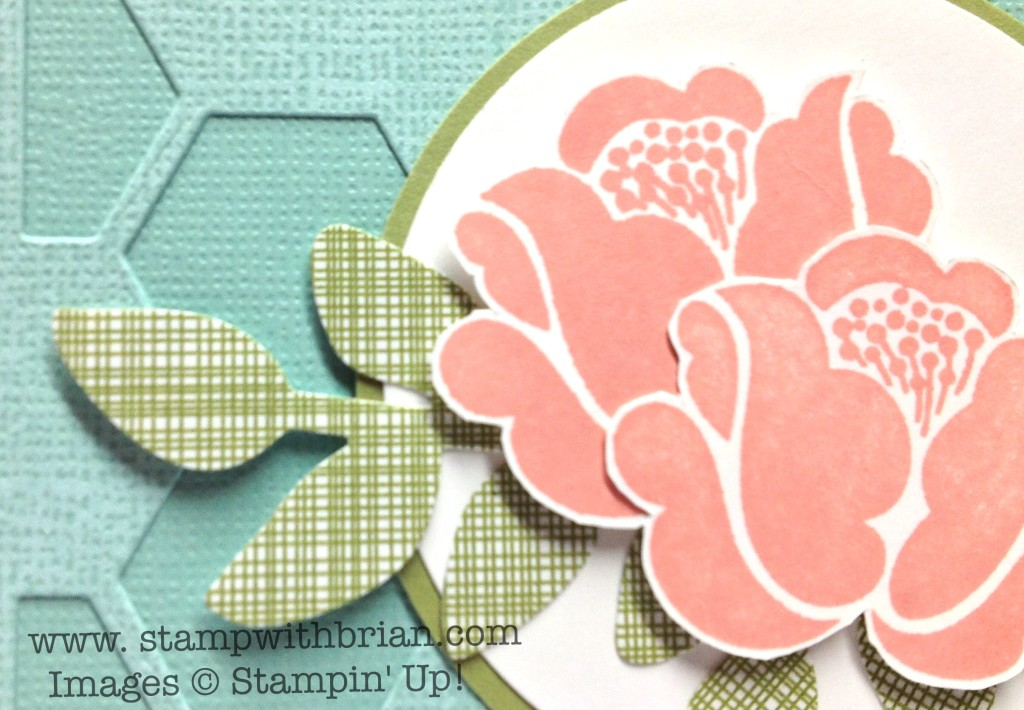 Stampin' Up!, Brian King, use patterned paper to create faux texture