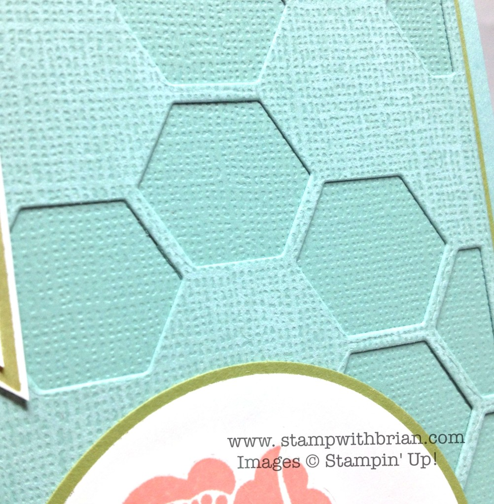 Stampin' Up!, Brian King, using Hexagon Hive for a subtle contrast