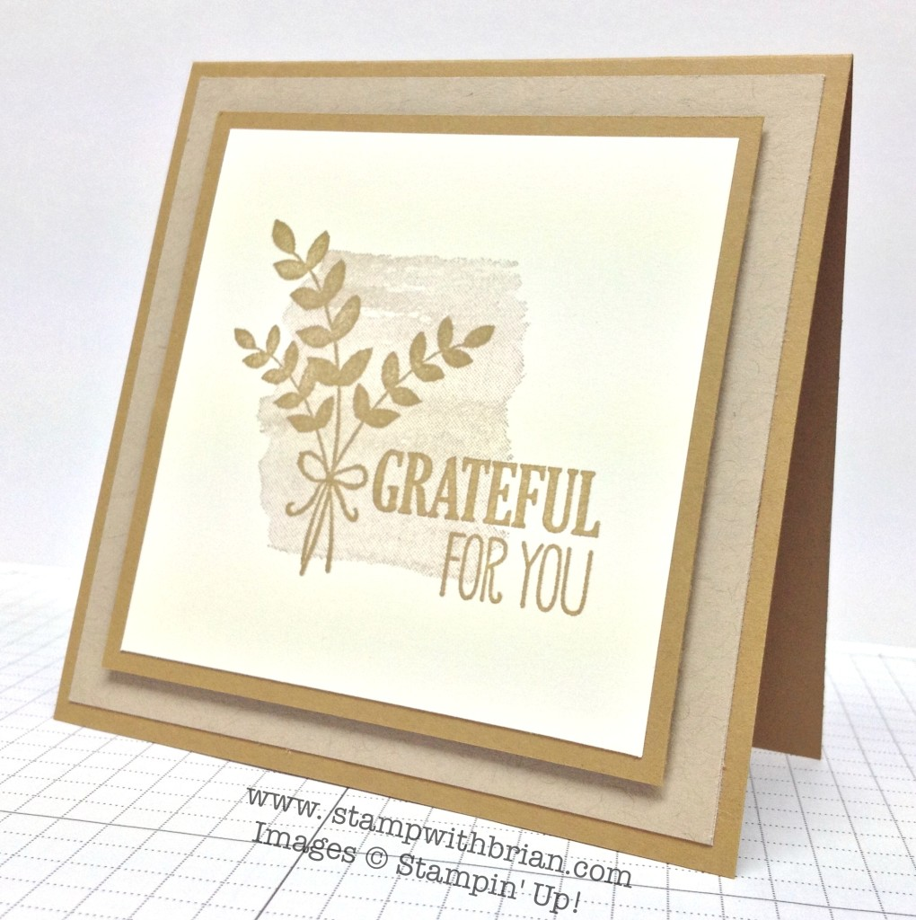 A Monochromatic Thank You – and a Sneak Peek – STAMP WITH BRIAN