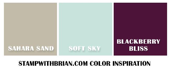 Color Inspiration #4, Stampin' Up!, Brian King