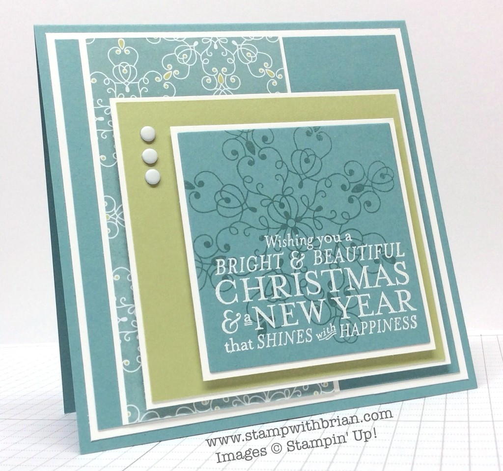 Bright & Beautiful, Letterpress Winter, Stampin' Up!, Brian King, FMS148
