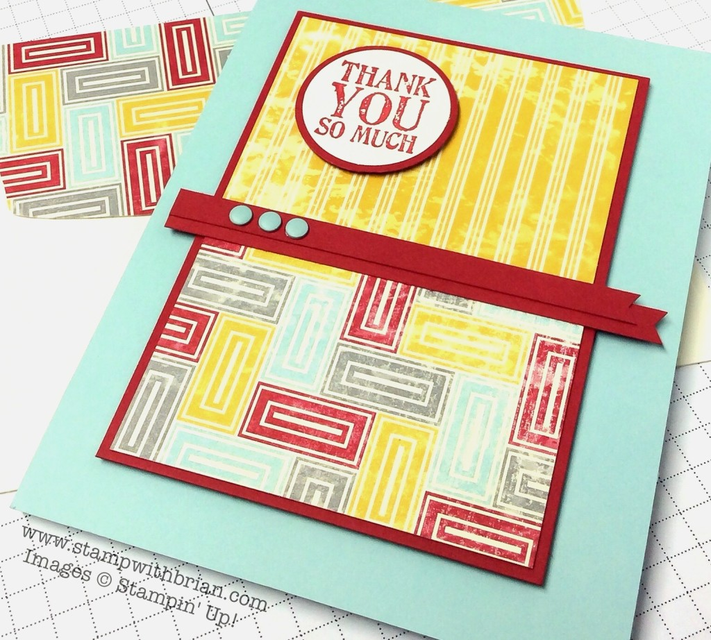 Lots of Thanks, Stampin' Up!, Brian King, PPA216