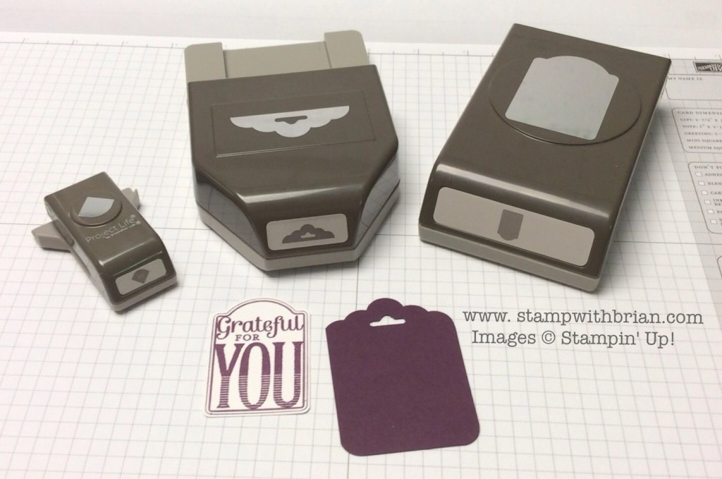 Project Life Corner Rounder, Scalloped Tag Topper punch, Note Tag punch, Stampin' Up!, Brian King