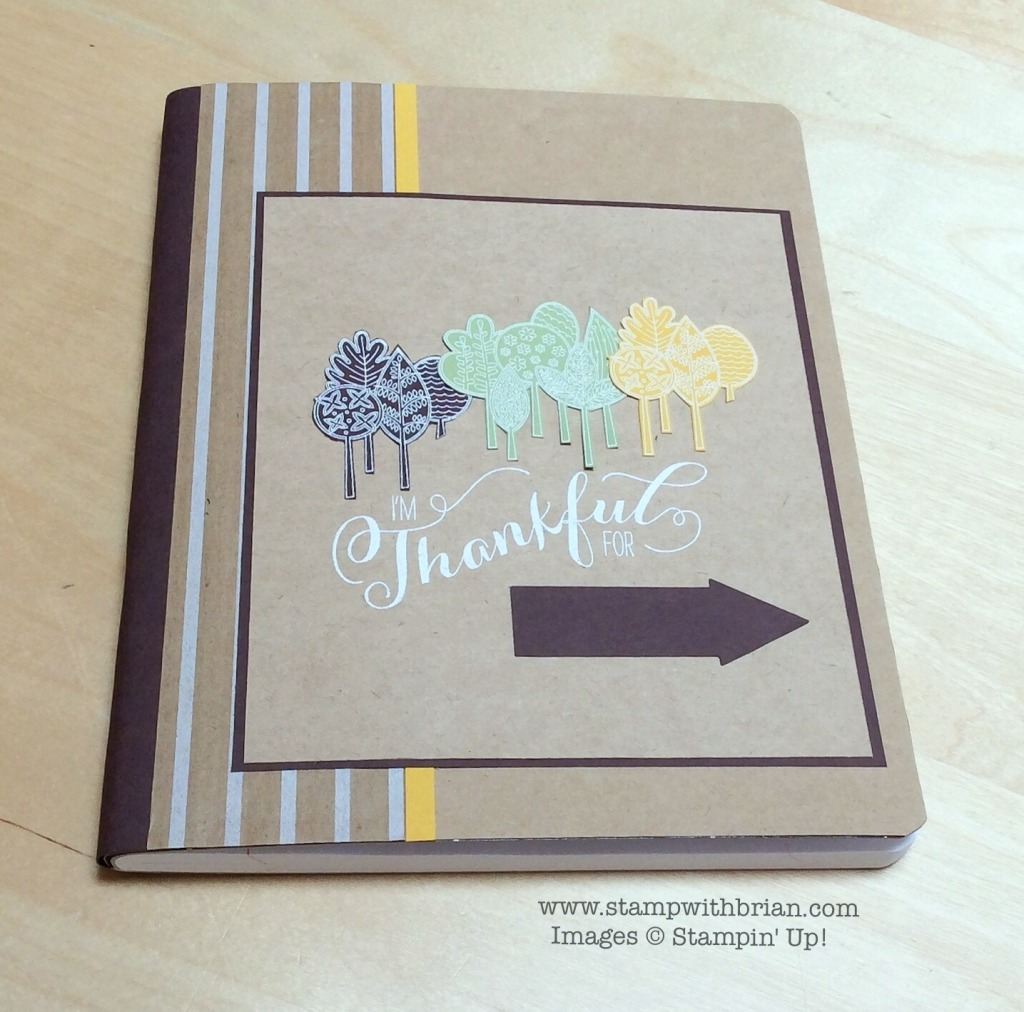 Thanksgiving Journal Cover, Stampin' Up!, Brian King