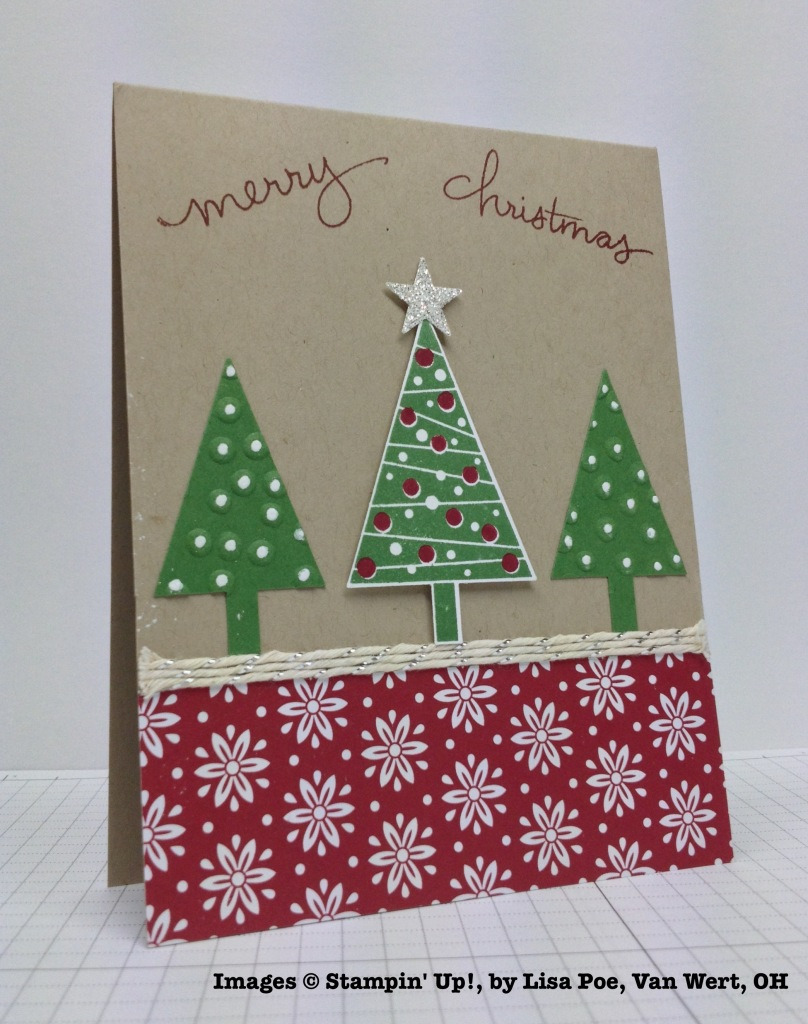 Holiday One-for-One Swap, Stampin' Up!, by Lisa Poe