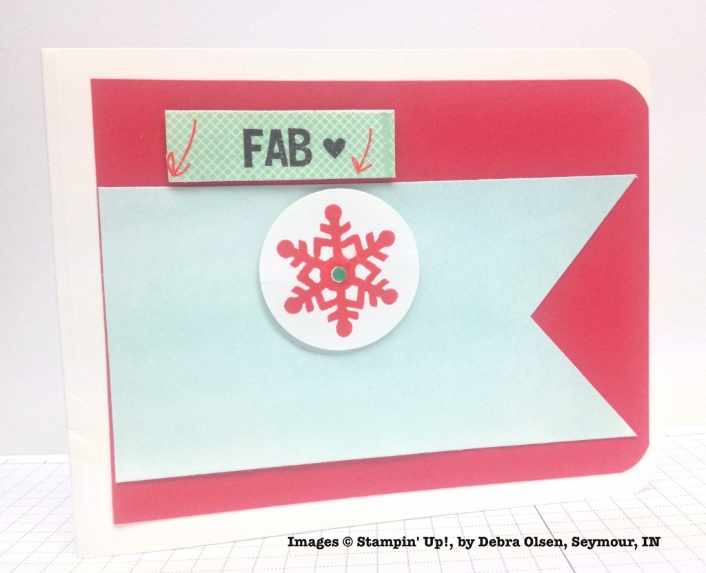 Holiday One-for-One Swaps, Stampin' Up!, by Debra Olsen