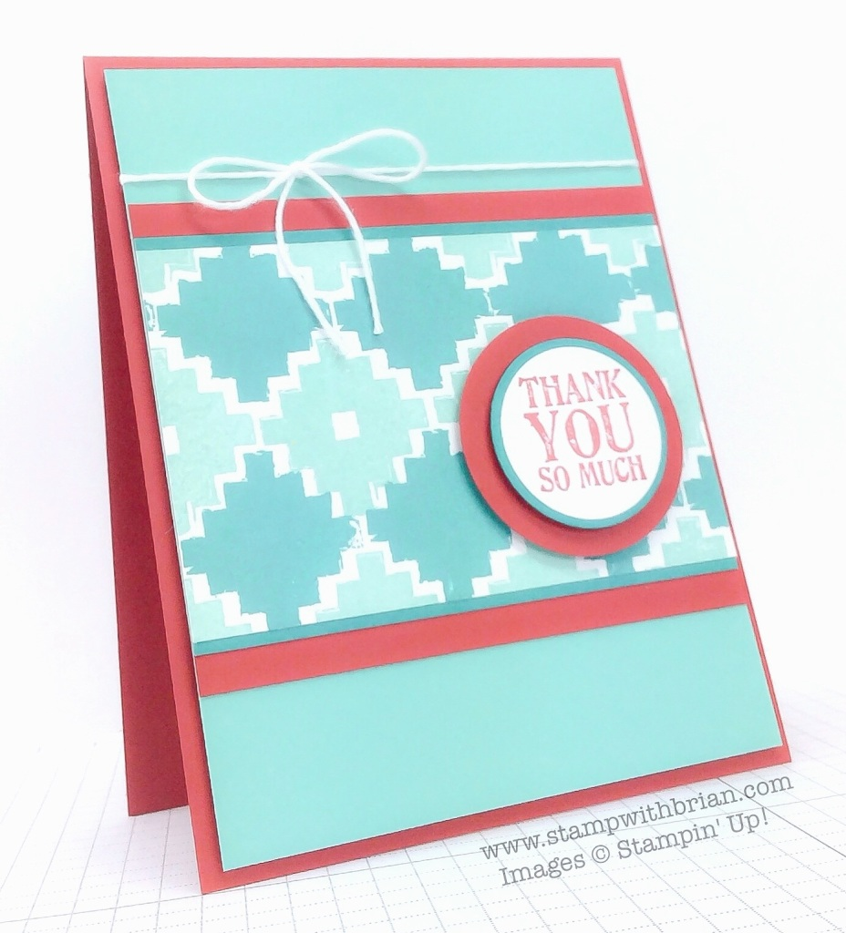 Eye-Catching Ikat, Lots of Thanks, Stampin' Up!, Brian King, FMS164