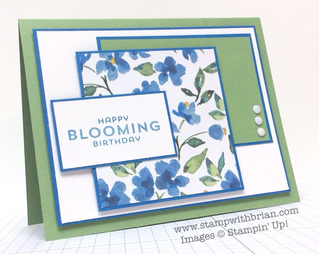 Flower Patch, Stampin' Up!, Brian King, MOJO379