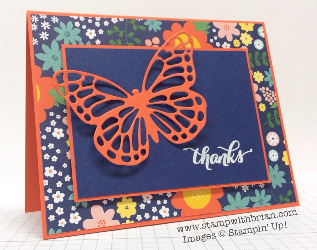 Another Thank You, Butterflies Thinlit Dies,Stampin' Up!, Brian King