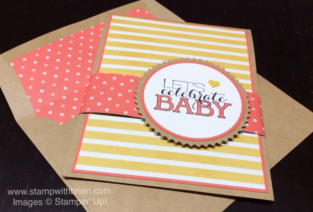 Sumthin' Sumthin', Baby How We've Grown, Four Your Party, Stampin' Up!, Brian King, baby shower invitations