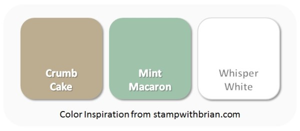 Stampin' Up! Color Inspiration - Crumb Cake, Mint Macaron, Whisper White
