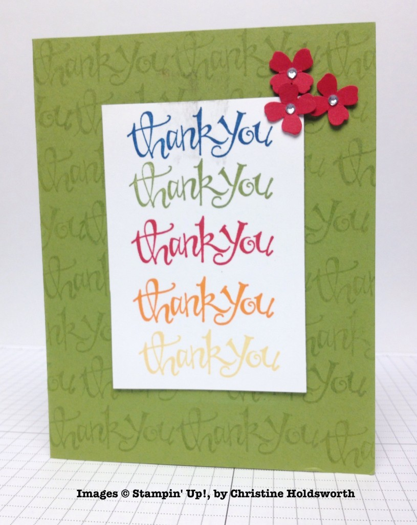 Christine Holdsworth, card swap, Stampin' Up!