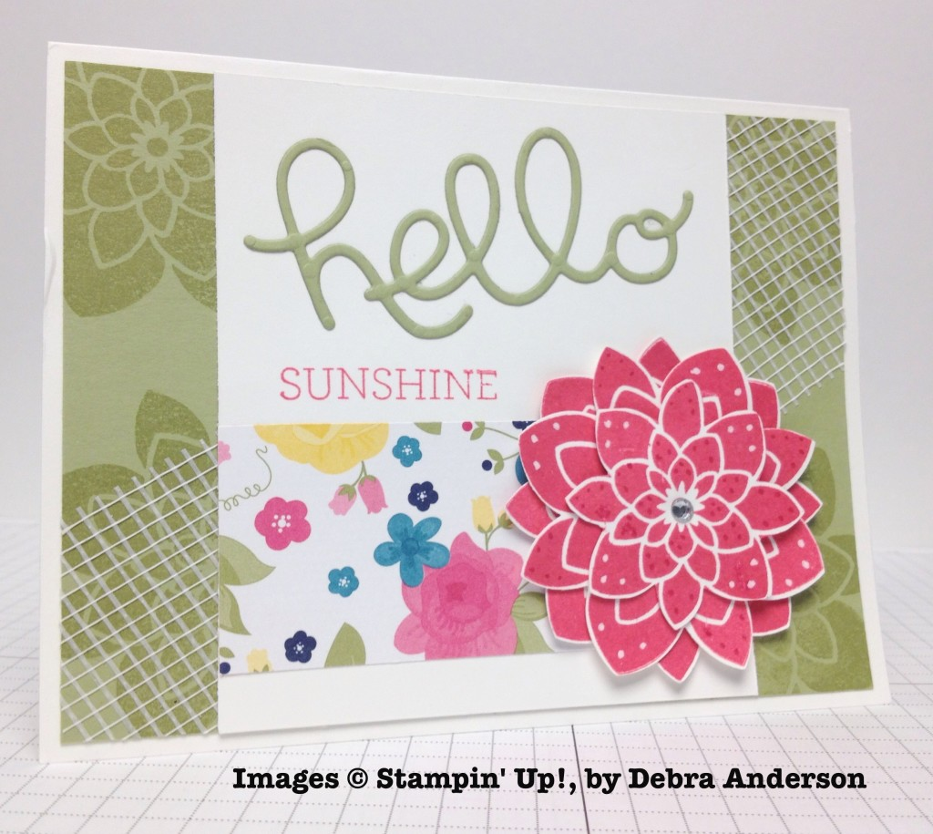 Debra Anderson, card swap, Stampin' Up!