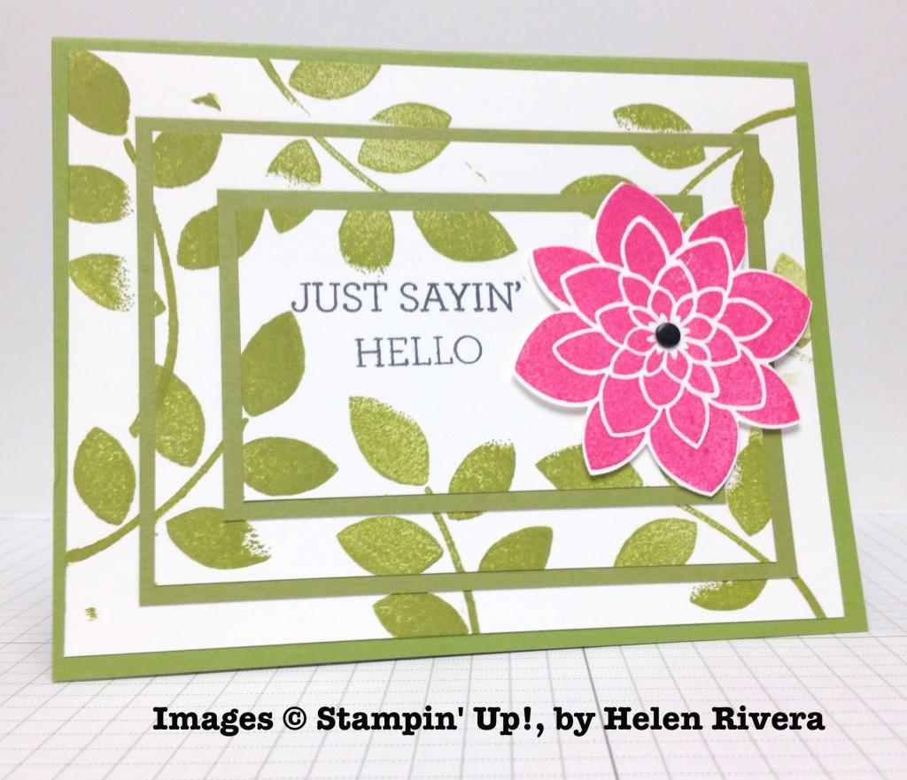Helen Rivera, card swap, Stampin' Up!
