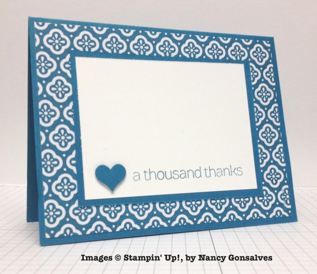 Nancy Gonsalves, card swap, Stampin' Up!