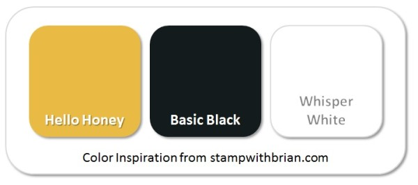 Stampin' Up! Color Inspiration: Hello Honey, Basic Black, Whisper White