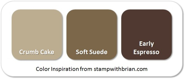 Stampin' Up! Color Inspiration: Crumb Cake, Soft Suede, Early Espresso