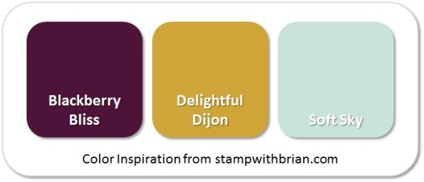 Stampin' Up! Color Inspiration: Blackberry Bliss, Delightful Dijon, Soft Sky