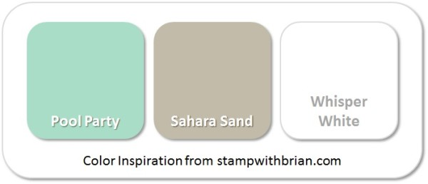 Stampin' Up! Color Inspiration: Pool Party, Sahara Sand, Whisper White