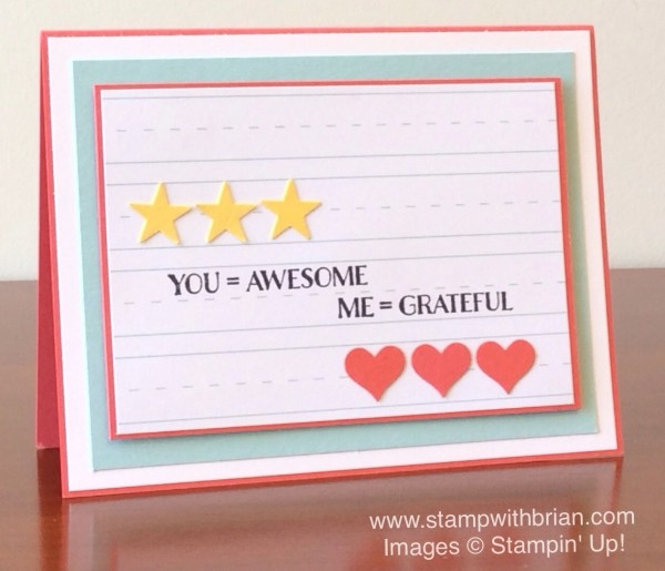 Me=Grateful, Schoolhouse Designer Series Paper, Stampin' Up!, Brian King