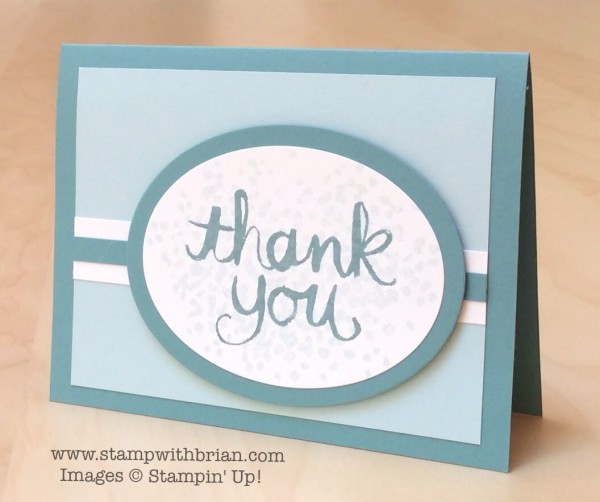Watercolor Thank  You, Sheltering Tree, Stampin' Up!, Brian King