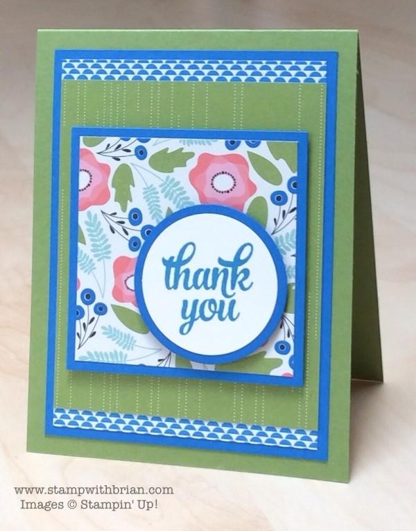 Tin of Cards stamp set, Pretty Petals Designer Series Paper Stack, Stampin' Up!, Brian King