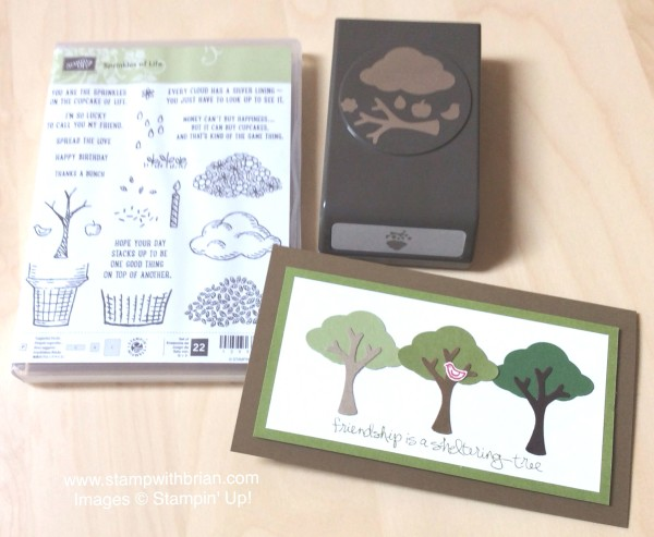 Sheltering Tree, Sprinkles of Life, Tree Builder Punch, Stampin' Up!, Brian King